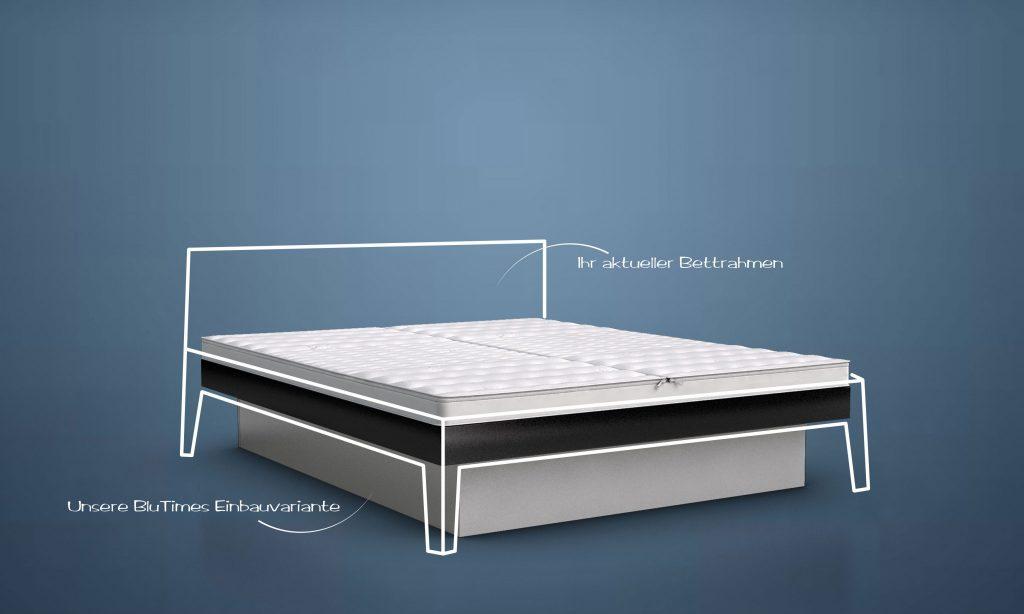 blusplit inside wasserbett das smarte einbaumnodell von blutimes. Black Bedroom Furniture Sets. Home Design Ideas