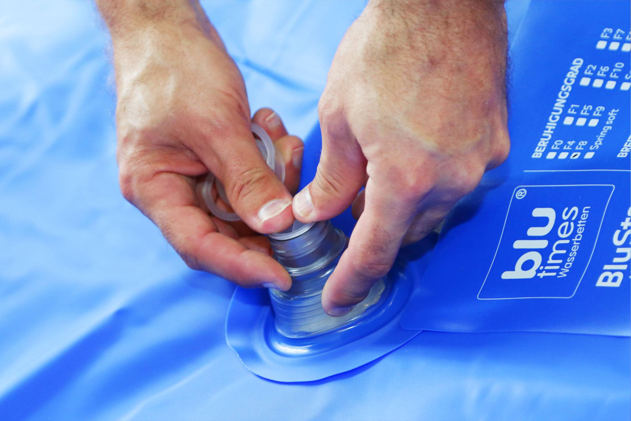 Turbo So entlüften Sie Ihr Wasserbett richtig | Wasserbett Entlüfterpumpe GR97
